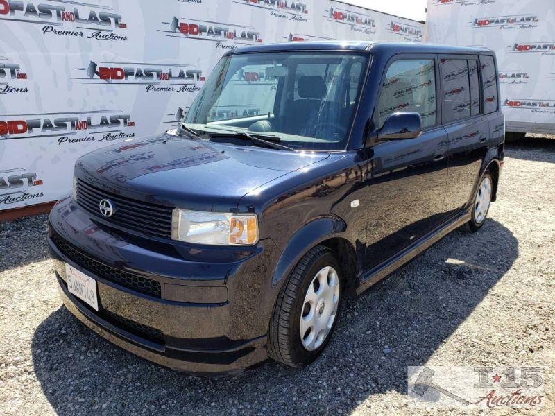 2005 Scion xB, Dark Blue Low Miles!, AC Blows Cold, Power windows, Pioneer HeadUnit Year: 2005 Make: Scion Model: xB Vehicle Type: Multipurpose Vehicle (MPV) Mileage: 48122 Plate: 5JAN748 Body Type: 4 Door Wagon Trim Level: Base Drive Line: FWD Engine Type: L4, 1.5L Fuel Type: Gasoline Horsepower: 108HP Transmission: Automatic VIN #: Jtlkt324350176389  Features and Notes:  DMV fees: $745 and $70 doc fees