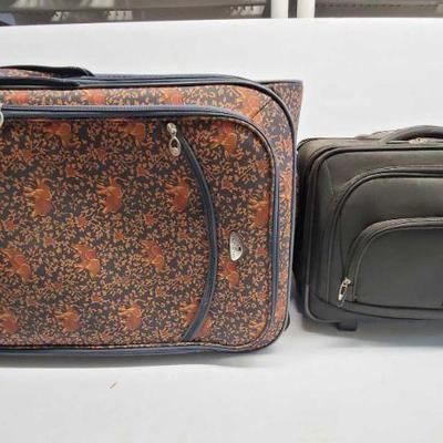 American Flyer Floral Elephant Print Luggage Case and Samsonite Rolling Luggage American Flyer Floral Elephant Print Luggage Case and...