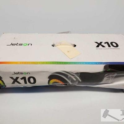 Jetson X10 Extreme-Terrain Hoverboard Jetson X10 Extreme-Terrain Hoverboard. In box, Charger included  OS19-026460.13