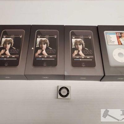 Three Ipod Touchs, One Ipod Classic, one Ipod Shuffle Three Ipod Touchs, One Ipod Classic, one Ipod Shuffle