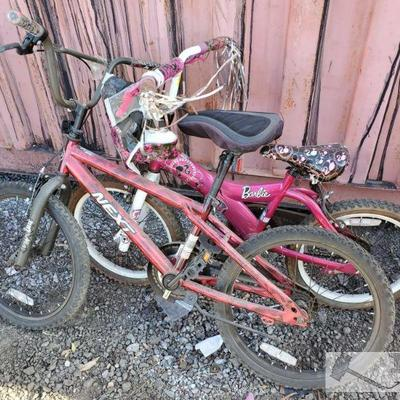 52-One Next Boys bike and One Barbie Girls Bike One Next Boys bike and One Barbie Girls Bike