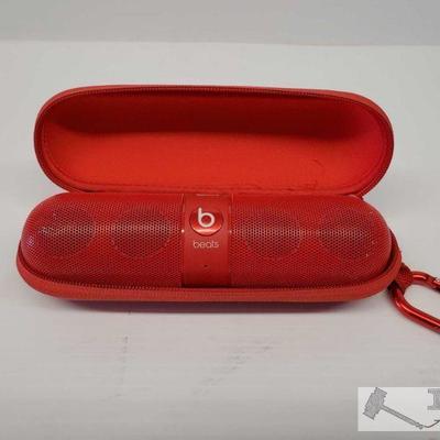 Beats Pill Speaker, Red Beats Pill Speaker, Red. Has Case  OS19-030196.14