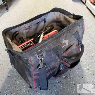 Husky Carpenters Bag Full of Hand Tools Tool brands include DeWalt, Craftsman and more