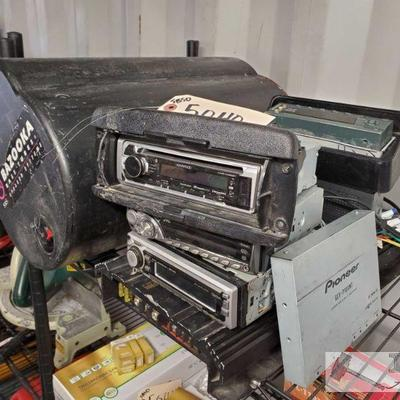 Four Radio HeadUnits, Vibe 1000Watt Amp, Pioneer audio Reciever, and Bazooka Bass Tube Four Radio HeadUnits, Vibe 1000Watt Amp, Pioneer...