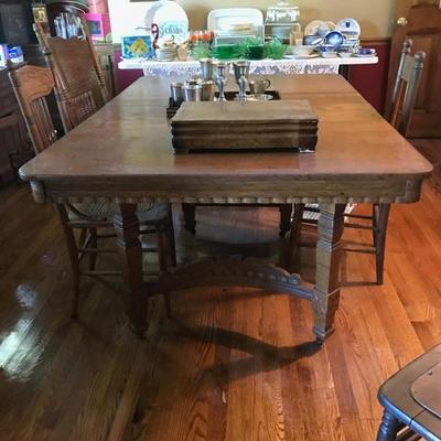 Oak dining table $165 65 X 44 X 29 1/2