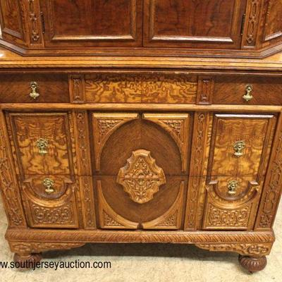 VERY VERY GOOD Condition  FANTASTIC 6 Piece ANTIQUE Depression Burl Walnut and Oak Bedroom Set with Full Size Bed  Auction Estimate...