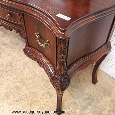 VERY VERY GOOD Condition  One of The Best Burl Mahogany Carved 8 Piece Bedroom Set with Right and Left Night Stands and Full Size Bed...