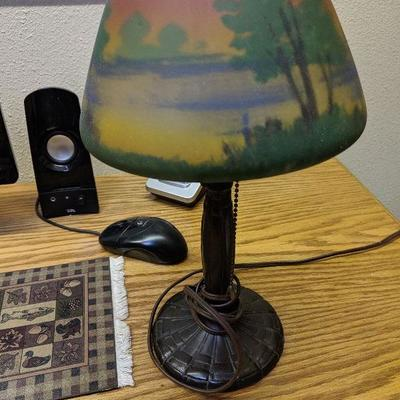 180-103 Small lamp with painted shade $25