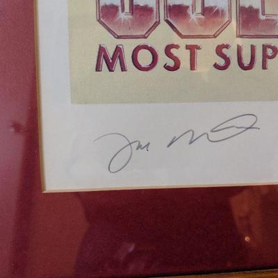 Joe Montana signed limited edition poster Most Superbowl  MPB Awards 714/2500 $75