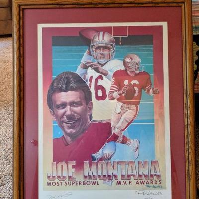 180-100 Joe Montana signed limited edition poster Most Superbowl  MPB Awards 714/2500 $75