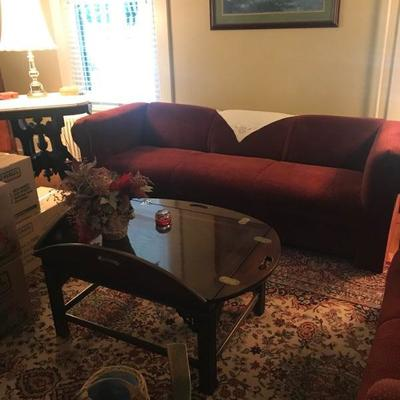 sofa , butlers table