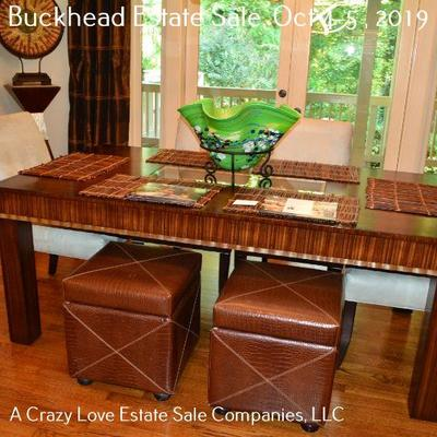 Dining Room Table and Chairs (Green Bowl is Not for Sale)