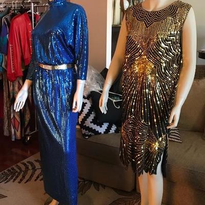 Sequin dresses by Saks Fifth Avenue & Sequins Queens