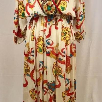 Gorgeous Diane Freis embroidered boho dress