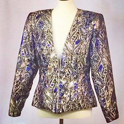 this metallic Pat Richards blazer is one rare find!
