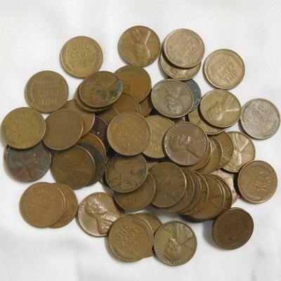 64 Wheat Pennies