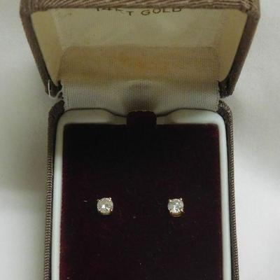 14 k Diamond Earrings - Approx. .40 Points