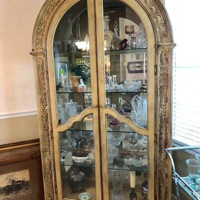 Unique Arched Lighted Display Cabinet - $475 (50W  20D  86H)
