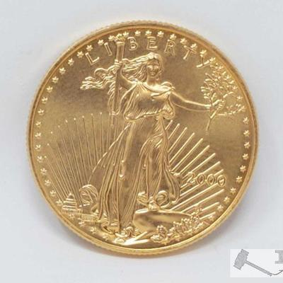 1104: 2000 American Eagle 1/2  Ounce Fine Gold Coin
