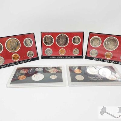 1112; 5 United States Proof Sets, 1968, 3 1976, and 1983 5 United States Proof Sets, 1968, 3 1976, and 1983