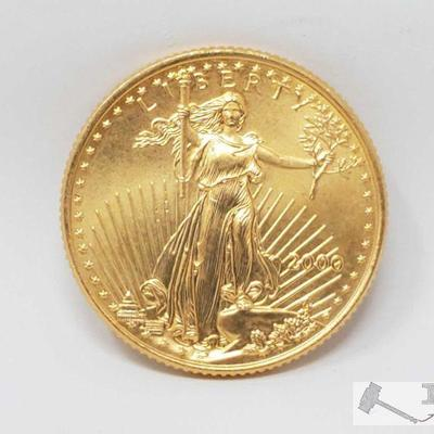 1001: 2000 American Eagle 1/2 Ounce. Fine Gold Coin 2000 American Eagle 1/2 Ounce Fine Gold Coin