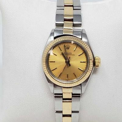 501: Rolex Wrist Watch Authenticated Model 6719 Serial Number 6105267 Year 1979 Movement 2030 Measures approx 27mm