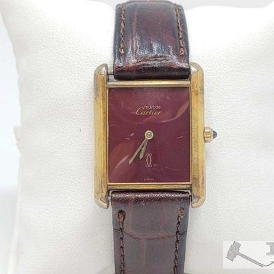 539: Must De Cartier Wrist Watch Marked 681006 and 13646 Measures approx 27mm