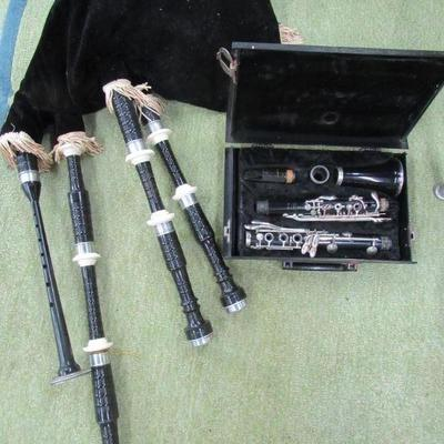 bag pipes and clarinet