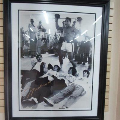 The Beatles w/ Muhammed Ali Photo 29x39