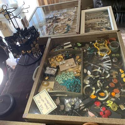 Vintage costume jewelry, final clearance priced at 75% off all weekend!
