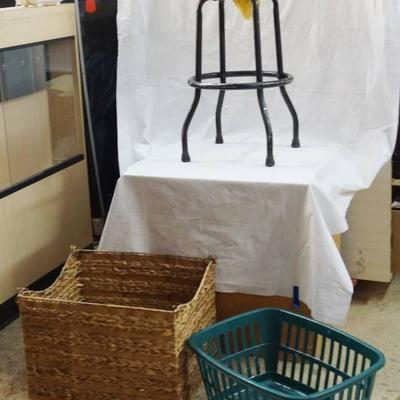 Lot of Misc. Home Decor - Basket, Stool and More