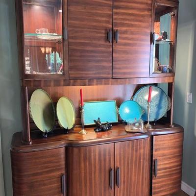 Massive Art Deco style china/display cabinet