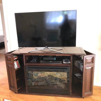 Dimplex Media Cabinet w/Fireplace - $375 - (55W  21D  34-1/2H)