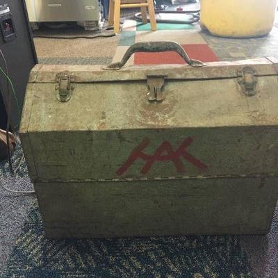 Old used tool box