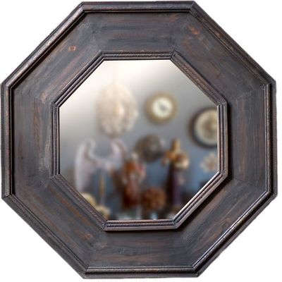 Several styles of wooden and metal mirrors, also tufted white canvas mirrors!