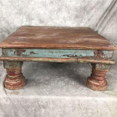 Dozens of vintage risers made from reclaimed wood very cool