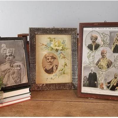 Dozens of framed vintage prints from India!