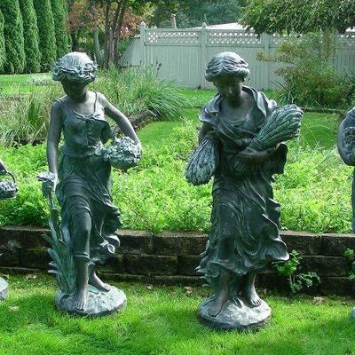 Group of Vintage Bronze Sculptures