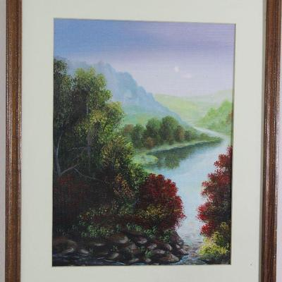 "Mountain/Landscape Framed print 17 1/2"" x 21 1/2"""