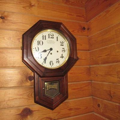 Beautiful regulator wall clock