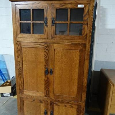 #Awesome 4 door wood cabinet