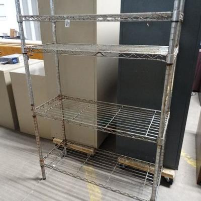 4 shelf metro style rack