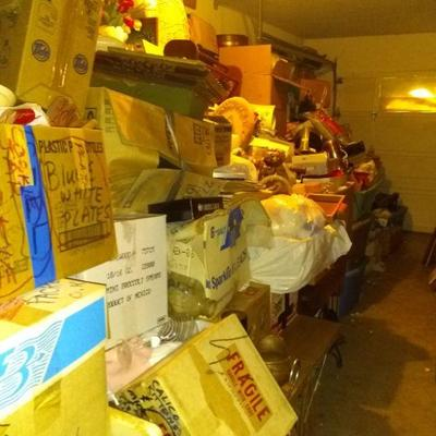 100's of boxes of collectibles