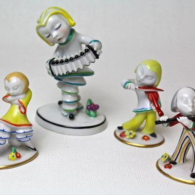 porcelain musician figurines designed by Walter Bosse for Metzler & Ortloff between 1926-1930