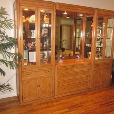 Thomasville Wall Unit Display Cabinets