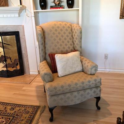 One is two wingback chairs