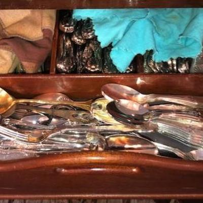 Many, many pieces of Sterling Silver & silver plate