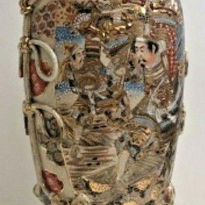 DG3: Antique satsuma vase/lamp 30 IN TALL LOCAL PICKUP   https://www.ebay.com/itm/123960425955