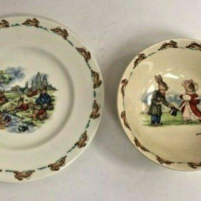 DG06: Bunnykins bowl and plate 8in & 6in   https://www.ebay.com/itm/123960425182