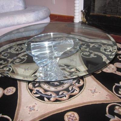 Mid-Century Modern Acrylic Base Cocktail Table